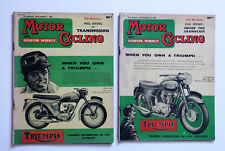 2 x Motor Cycling with Scooter Weekly Magazine: Sept 1960, Vespa Championships,