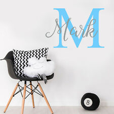 Custom ANY Name Personalise Baby Boy Bedroom Wall Sticker Nursery Decal Decor