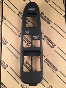 1991-1995 Toyota MR2 OEM Window Switch Left Driver mirror Bezel SW20 Black Trim