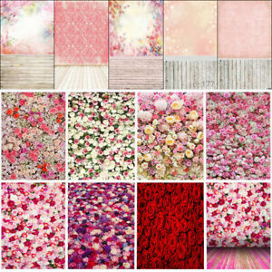 Langoo 7x5ft Photography Background Flowers Texture Backdrop Cloth Wall Art Pattern Photo Background Studio Photo Props for Bridal Gift Wedding Birthday Decor