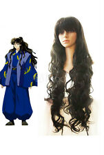 Fashion Classic InuYasha Naraku Long Black Wavy Cosplay Wig