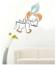 Asmi Collections PVC Wall Stickers Beautiful God Krishna with Flute
