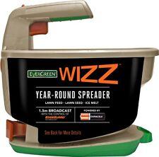 EverGreen Wizz Year-Round Garden Lawn Seed Fertiliser Spreader -Battery Operated