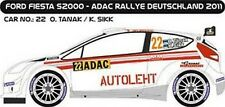 DECALS 1/43 FORD FIESTA S2000 #22 - TANAK - RALLYE ADAC 2011 -MF-ZONE D43242