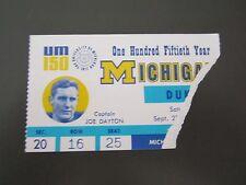 Michigan vs. Duke 1967 Football Ticket Stub- Big House-RARE!
