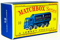 Matchbox Lesney Product No 10 FODEN SUGAR CONTAINER Repro Empty Box style D