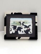 Figi Graphics- Cows- Hand Cast Paper Framed Art Fashion Leader In Wall Decor