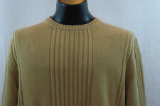 EXPRESS  Crewneck Sweater - Tan Striped Pattern - L