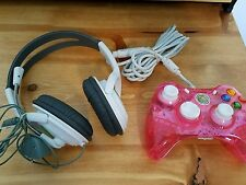 PDP Rock Candy Wired Controller for Xbox 360 - Pink Palooza and Headset/mic