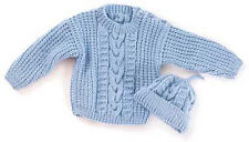 KNITTING PATTERN - CABLED HEIRLOOM BABY SWEATER/JUMPER AND HAT
