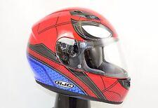 Medium HJC Spiderman Homecoming LE CS-R3 Full Face Motorcycle Helmet Red/Blue