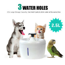 2.5L Automatic Cat Dog Water Fountain Filtered Pet Drinking Dispenser LED Light