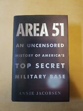 Area 51: An Uncensored History of America's Top Secret Military Base  Jacobsen,