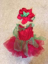 Gymboree strawberry fairy costume, size 6-12 months, with little headband, EUC