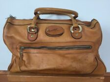 Vintage Portofino Invicta Leather Luggage Carry On Overnight Doctors Bag Case