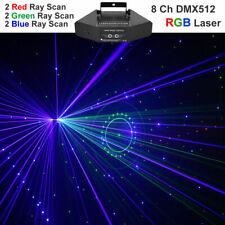 6 Lens RGB Color Beam Pattern DMX Laser Light Home Party Show DJ Stage Lighting