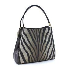 Coach 26636 Madison Zebra Print Phoebe Shoulder Bag Tote Hobo