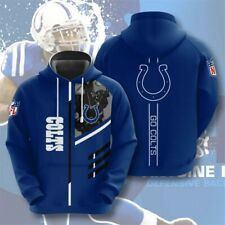 Indianapolis Colts Hoodie Mens Sports Sweatshirt Pullover Football Hooded Jacket