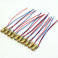 Cheap 10 Pcs Mini Golden 5V Red Laser Dot Diode Module Head Copper 15*6mm New