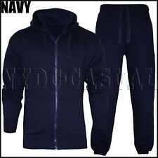 New Mens Tracksuit Set Fleece Hoodie Top & Bottoms Jogging Joggers Gym CONTRAST