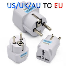 Universal UK US AU to EU European Power Socket Plug Adapter For Travel Converter