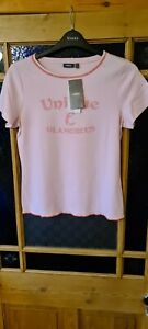 LADIES SHORT SLEEVED BABY PINK T SHIRT FROM MEXX UK XL RRP £15