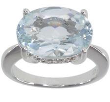 Aquamarine Topaz Sterling Silver Fine Rings