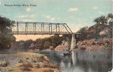 1911 Bosque Bridge Waco TX post card