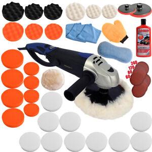 Poliermaschine Schleifmaschine Autopolierer Polierset Poliergerät 1600W Set 5