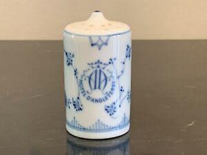 Bing & Grondahl B & G Blue & White Porcelain Salt Shaker from Hotel D'Angleterre