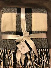 Black & White Blanket Throw 50 X 60 Buffalo check