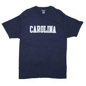 CHAMPION Carolina Black Regular USA Short Sleeve T-Shirt Mens L