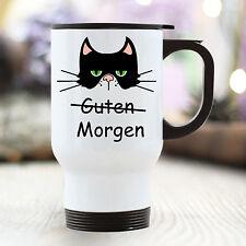 "TB110 Wandtattoo-Loft Thermo Mug Cat Cat Grumpy Grimly "" Good Morning """