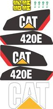 Caterpillar 420E Backhoe Decal / Adhesive / Sticker Complete Set