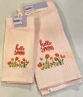 Celebrate Fall Burgundy Embroidered Pumpkins Cotton Bath Hand Towel NWT