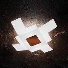 Plafoniera in vetro bianca e ruggine moderna a 4 luci tpl 1121/75-CO