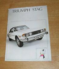 Triumph Stag V8 Roadster Brochure 1974