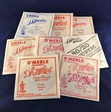 8 x Vintage D'Merle D'Angelico Guitar Strings New York 1974/1975!