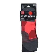 Under ArmourGrip UA Adult Neon Coral Crew Nylon Cushioned Training Socks L 9-12