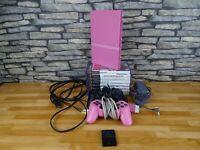 Pink slimline Playstation 2 Conosle Bundle, 2 Controllers, 8 games ,memory card