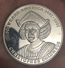 1492-1992 Christopher Columbus 500th Years América Silver 1/2 Onz Very Nice G19