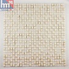Mosaico de Vidrio Donrados Piedra Natural Blanco Transparente 29 ,5x29,5x0,6cm