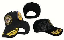 US Navy Active Duty Shadow Eggs Feather Feathers Seal Hat Cap (Black)
