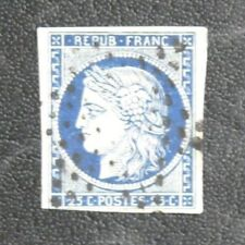 TIMBRES DE FRANCE : 1870/71 YVERT N° 4a CERES 25 CENTIMES BLEU FONCé Obl. ETOILE