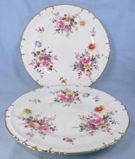 2 Royal Crown Derby Posies Dinner Plates Flowers Porcelain Posie Ely HELP