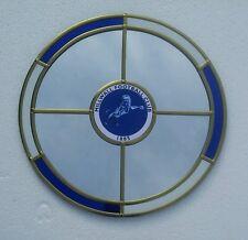 Millwall F.C. circle wall mirror . 30cm diameter.  PLUS Leather fob Keyring