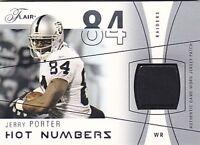 JERRY PORTER 2004 FLAIR HOT NUMBERS #HN-JP JERSEY #60/75 FB2941