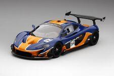 Mclaren P1 GTR Blu/arancione in 1 18 Scala da TrueScale Miniatures
