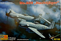 Messerschmitt Me-609 Nachtjager WWII Fighter - RS Models Kit 1:72 92198 Nuovo