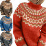 Ladies Sweater Half Collar Casual Jumper Womens Loose Warm Long Sleeve Pullover